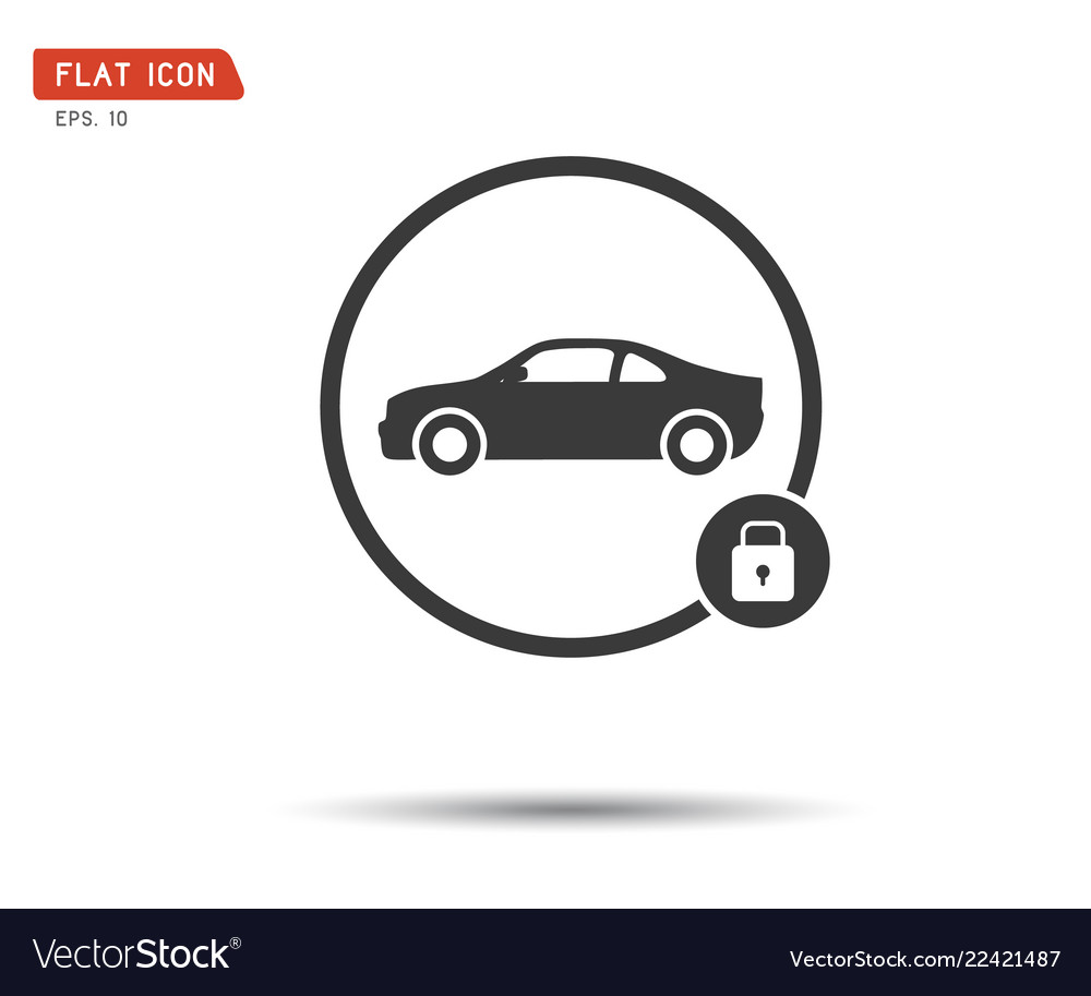 Car lock icon eps