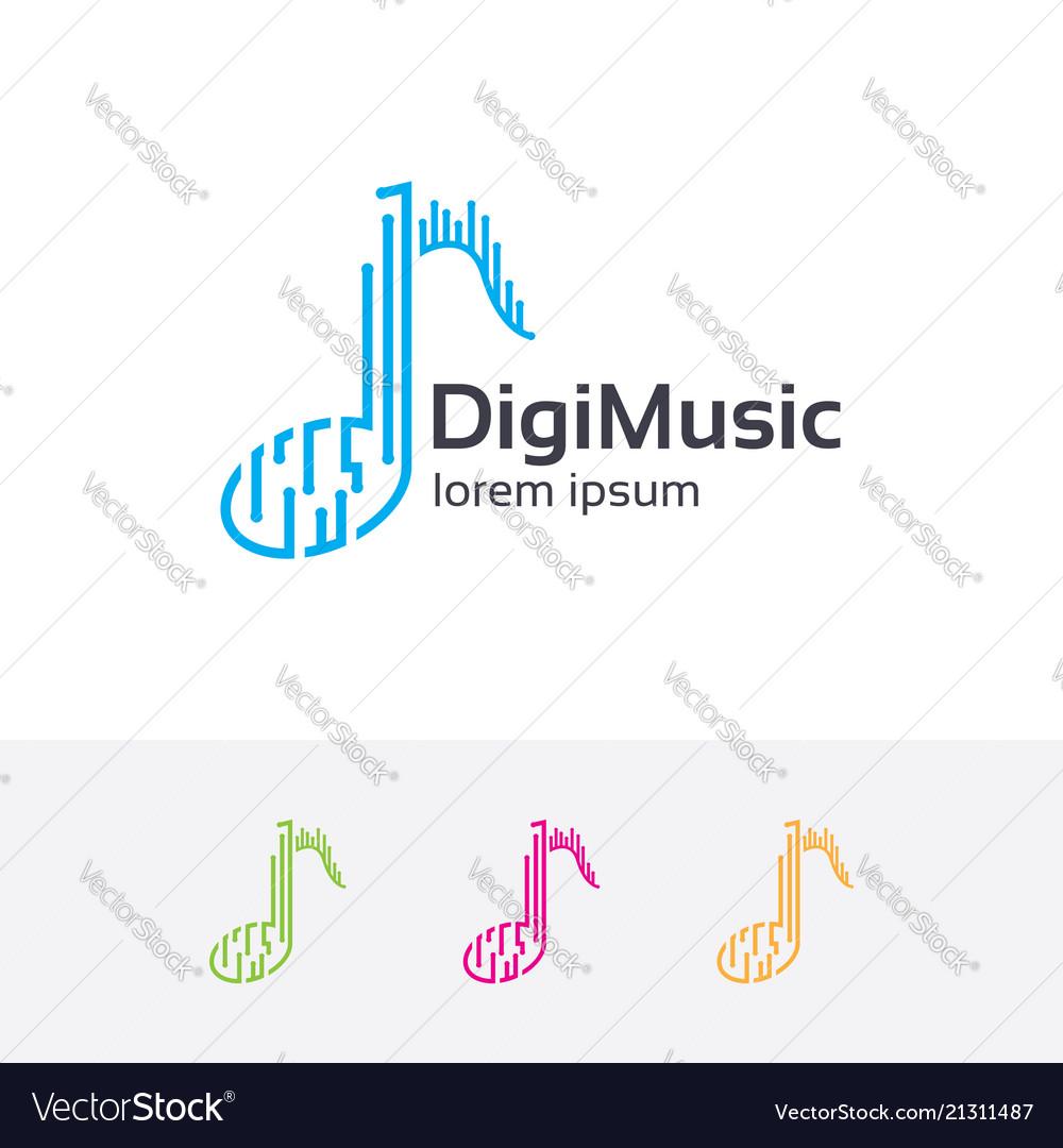 Digital music logo design