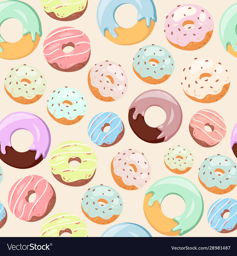 Donuts with pink icing glazing and sprinkles