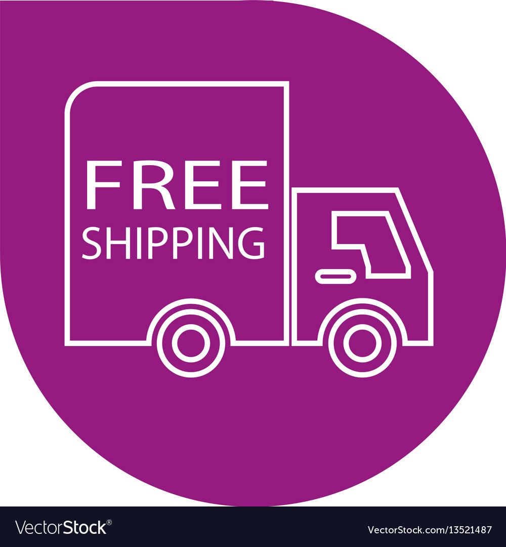 Free shipping label Royalty Free Vector Image - VectorStock