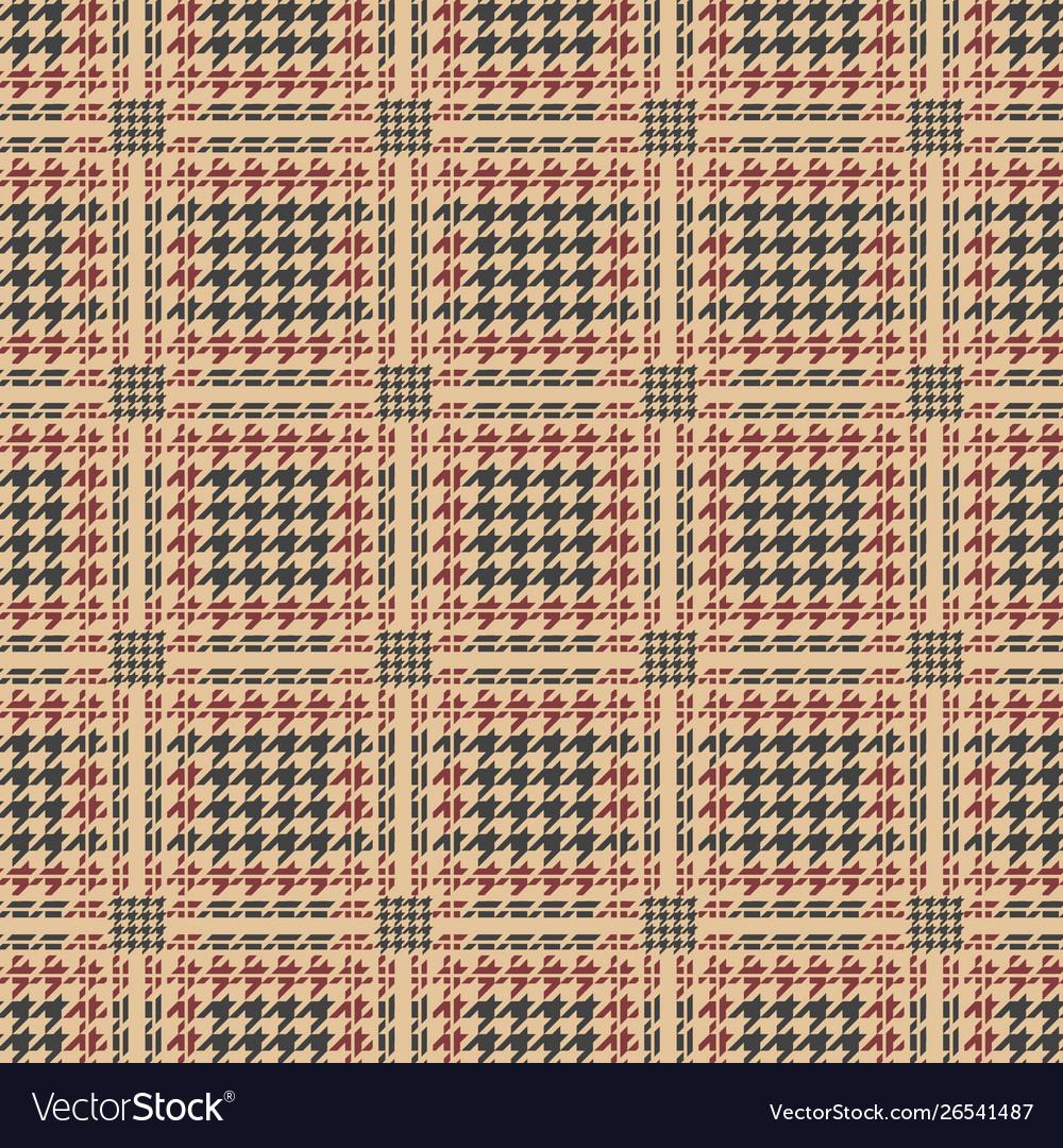 Glen plaid houndstooth pattern
