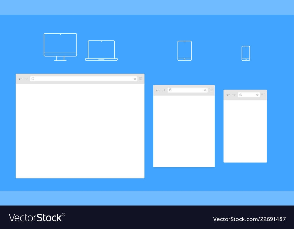 Open Internet Browser Window Template Royalty Free Vector