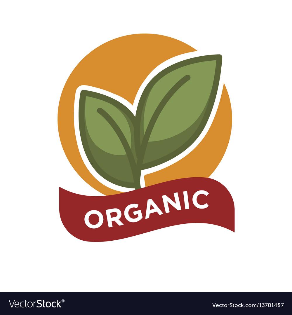 Organic food fresh from farm label