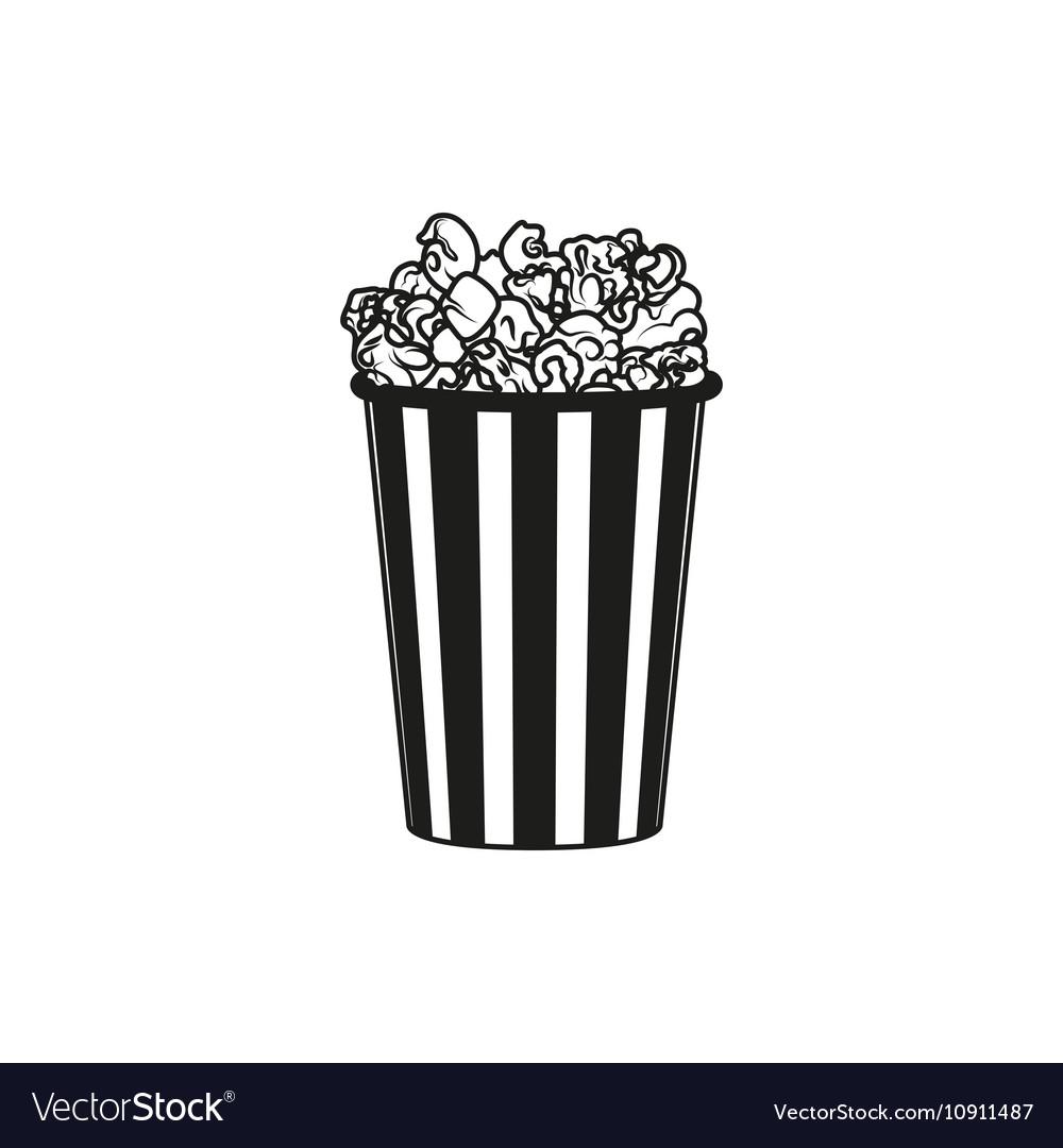 Popcorn simple black icon on white background