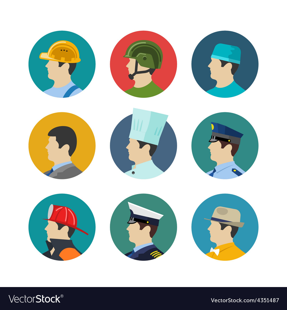 Set of profession icons vector image