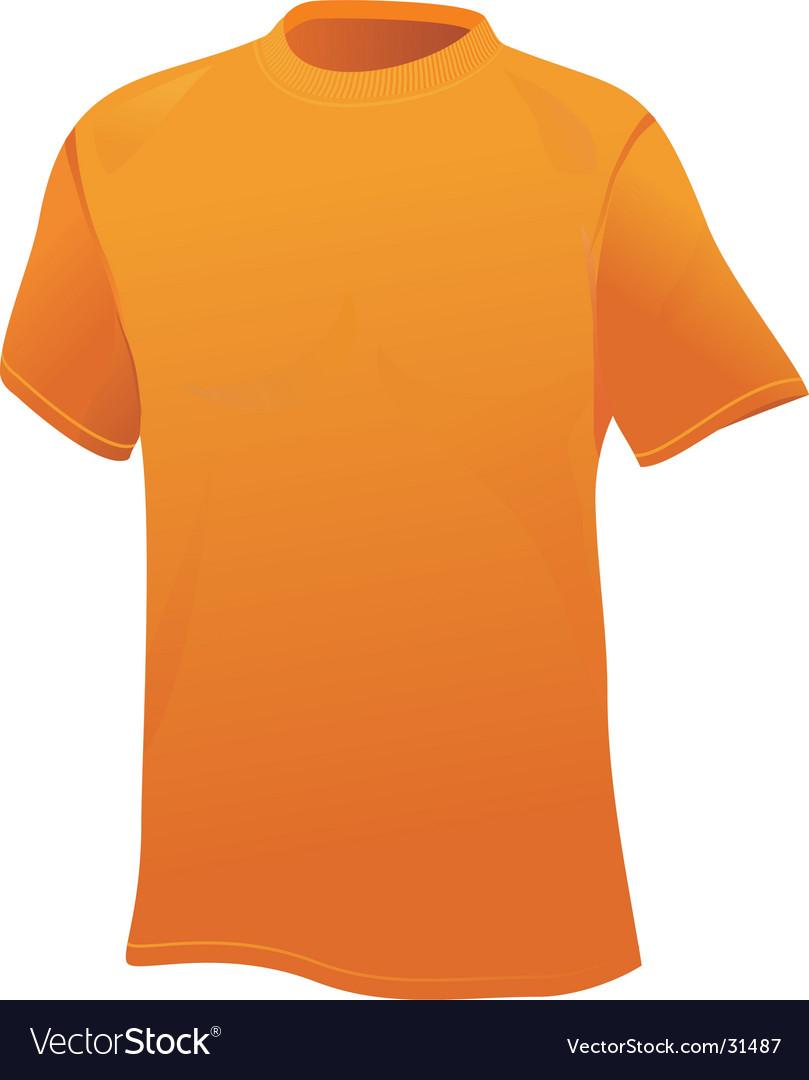 Yellow sports shirt vector image
