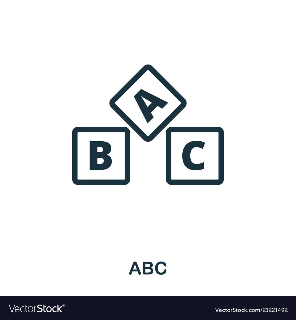 Abc icon line style icon design ui