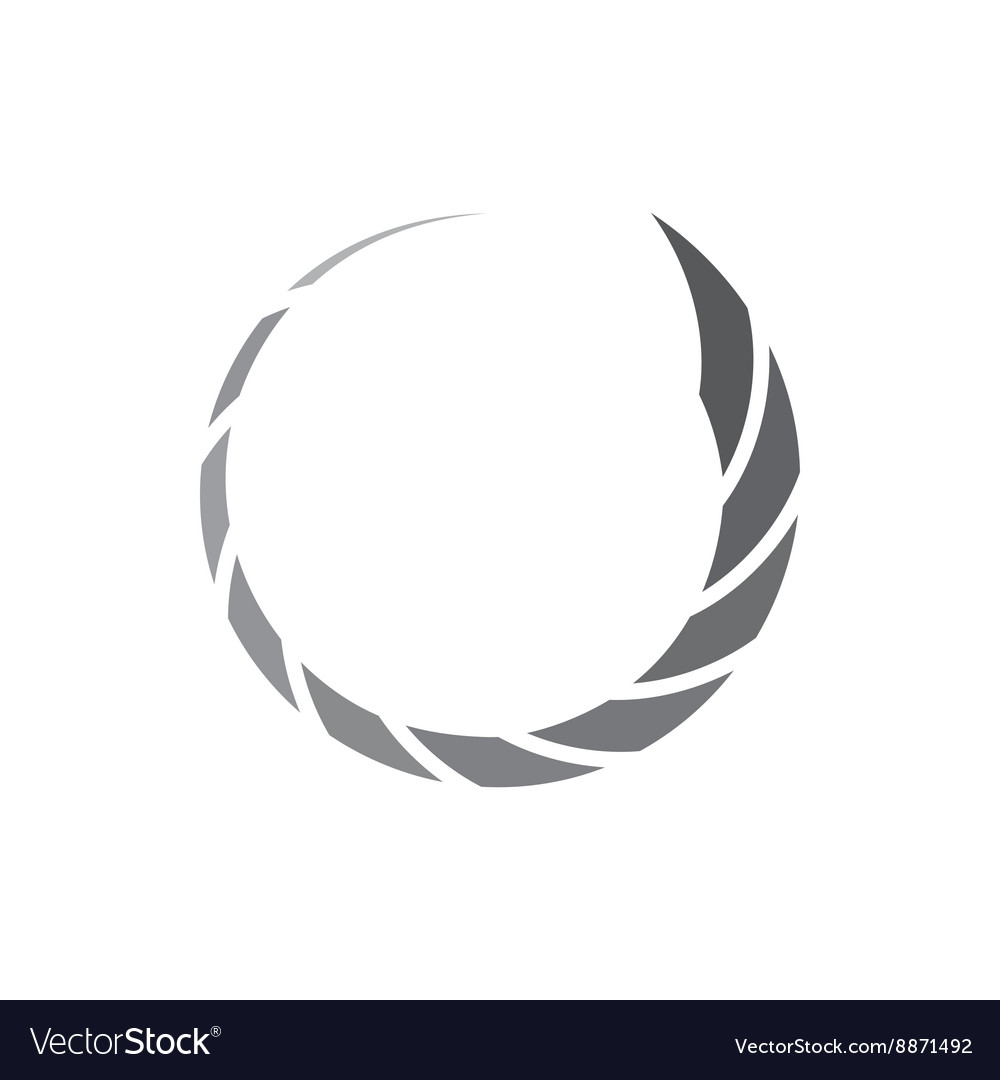 Abstract geometric circle of inclined segments vector image