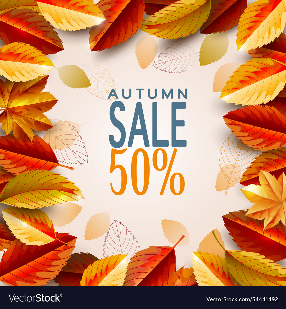 Autumn season background decorate with leaves