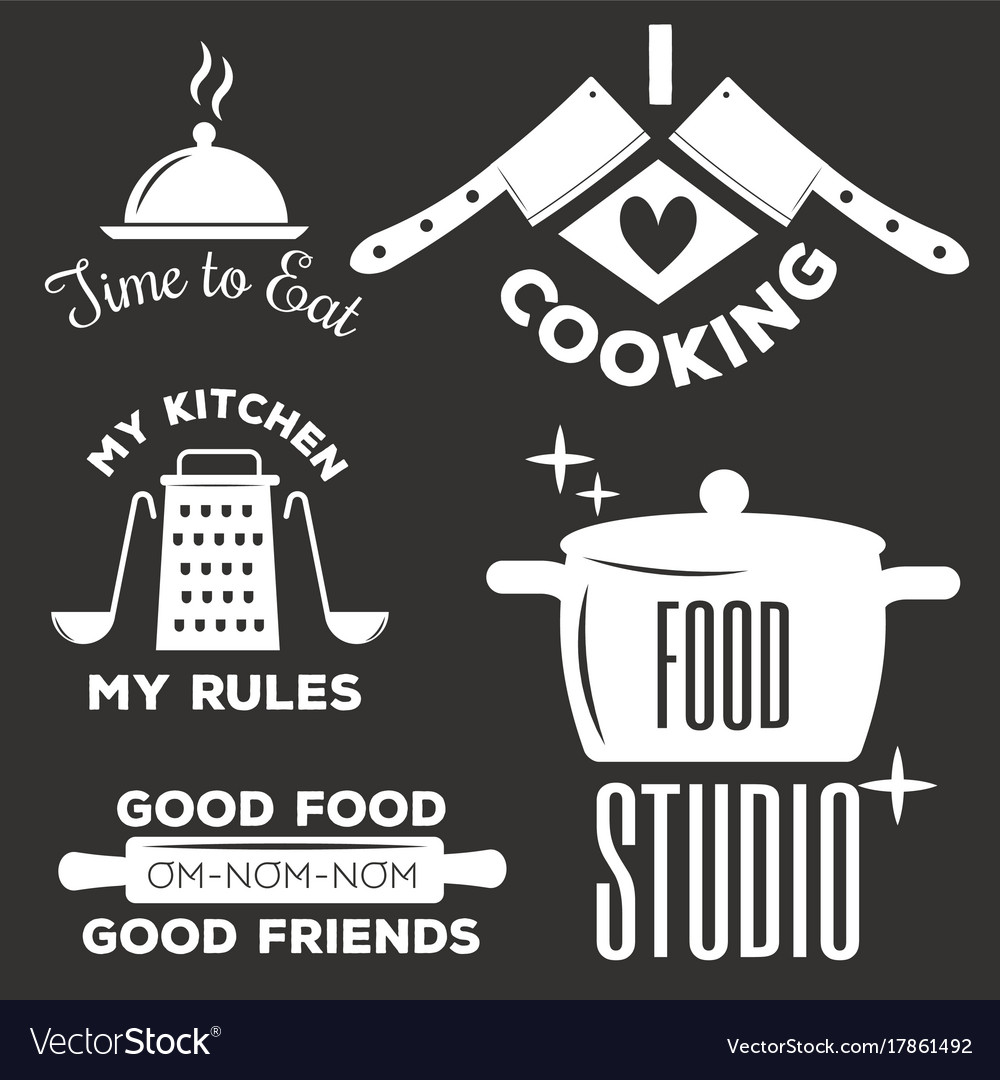 Bakery shop badges and cooking labels design