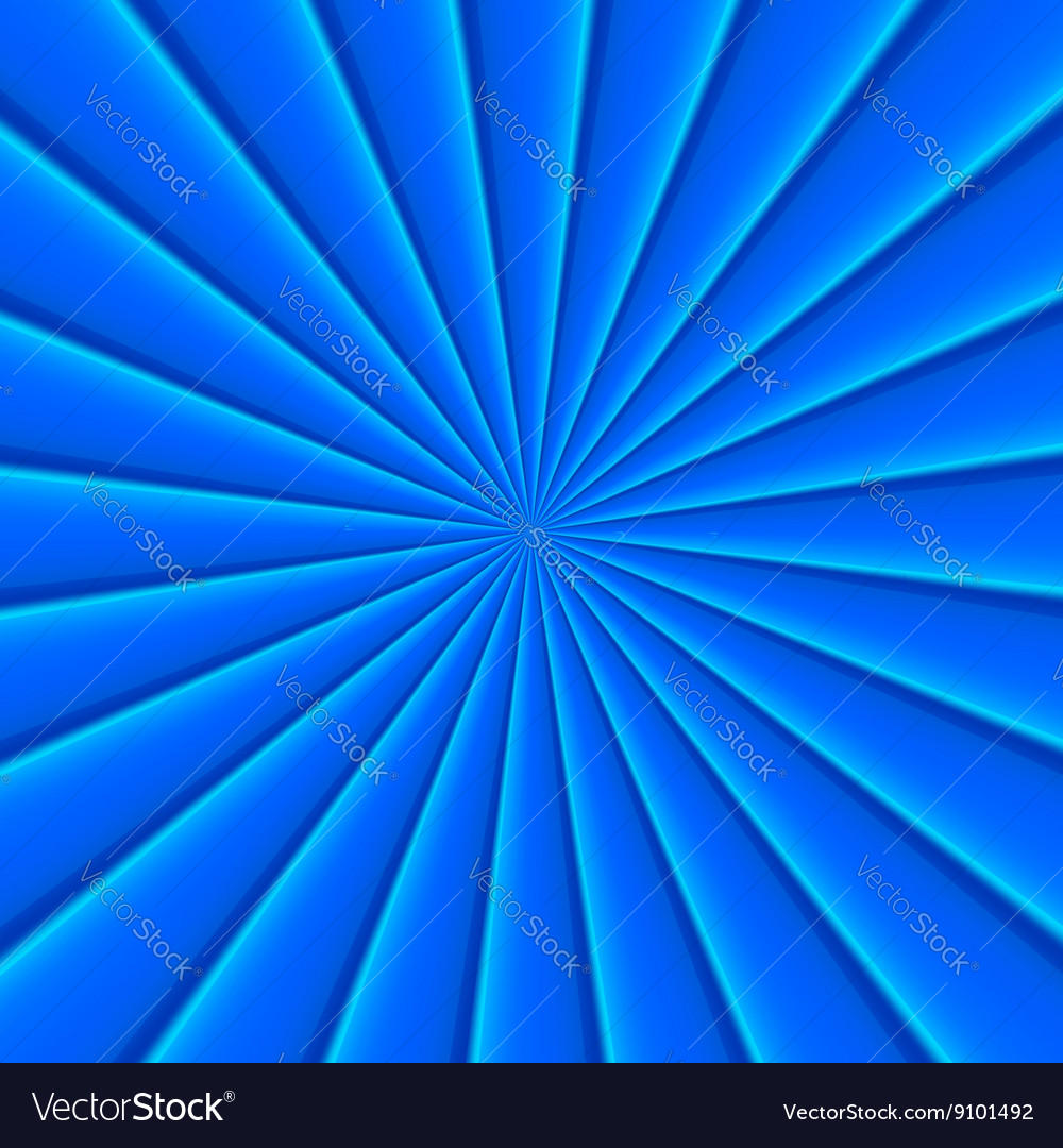 Blue abstract rays circle background