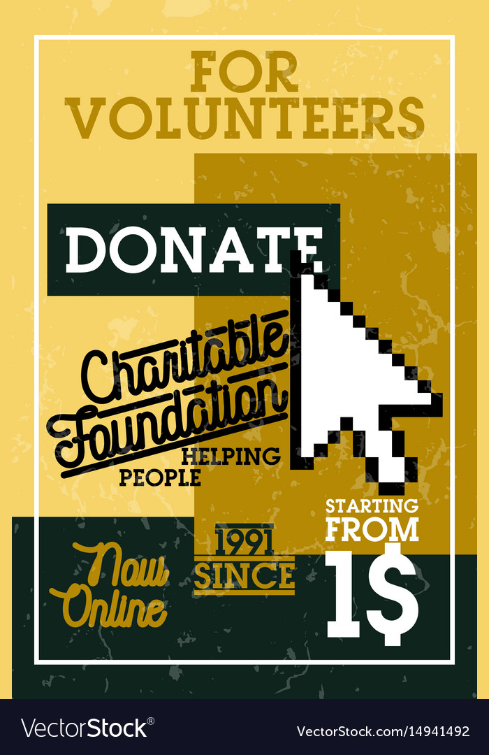 Color vintage charitable foundation banner
