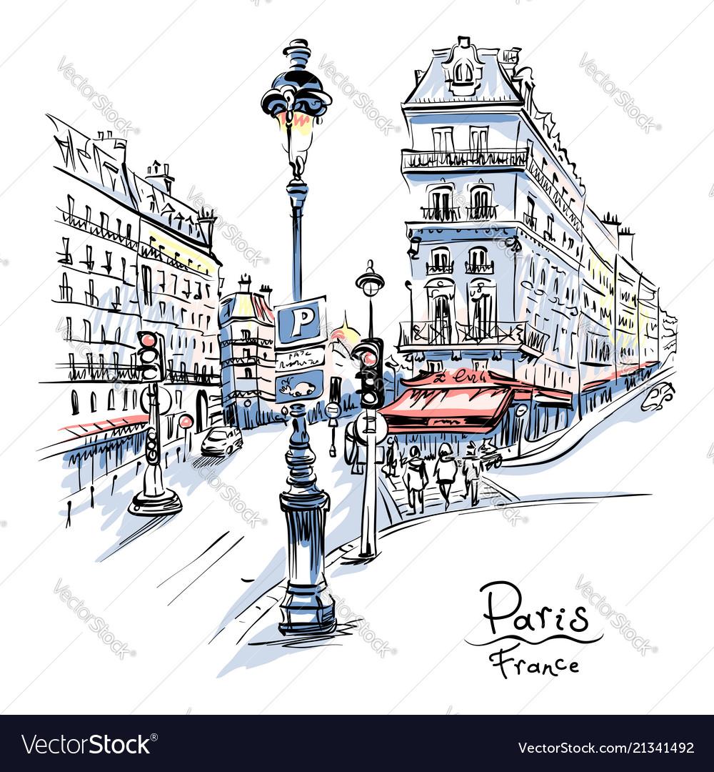 Cozy paris street france