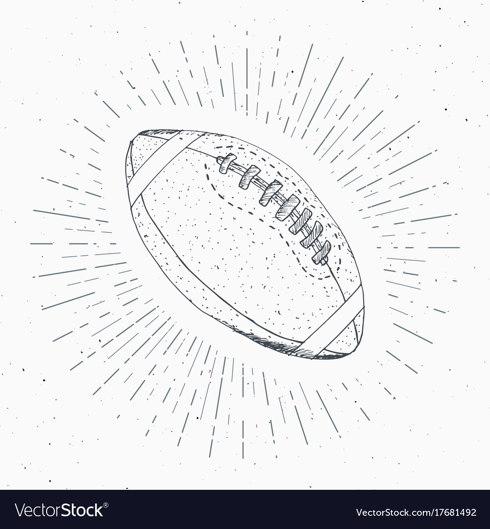 Football lace vintage vector images 49