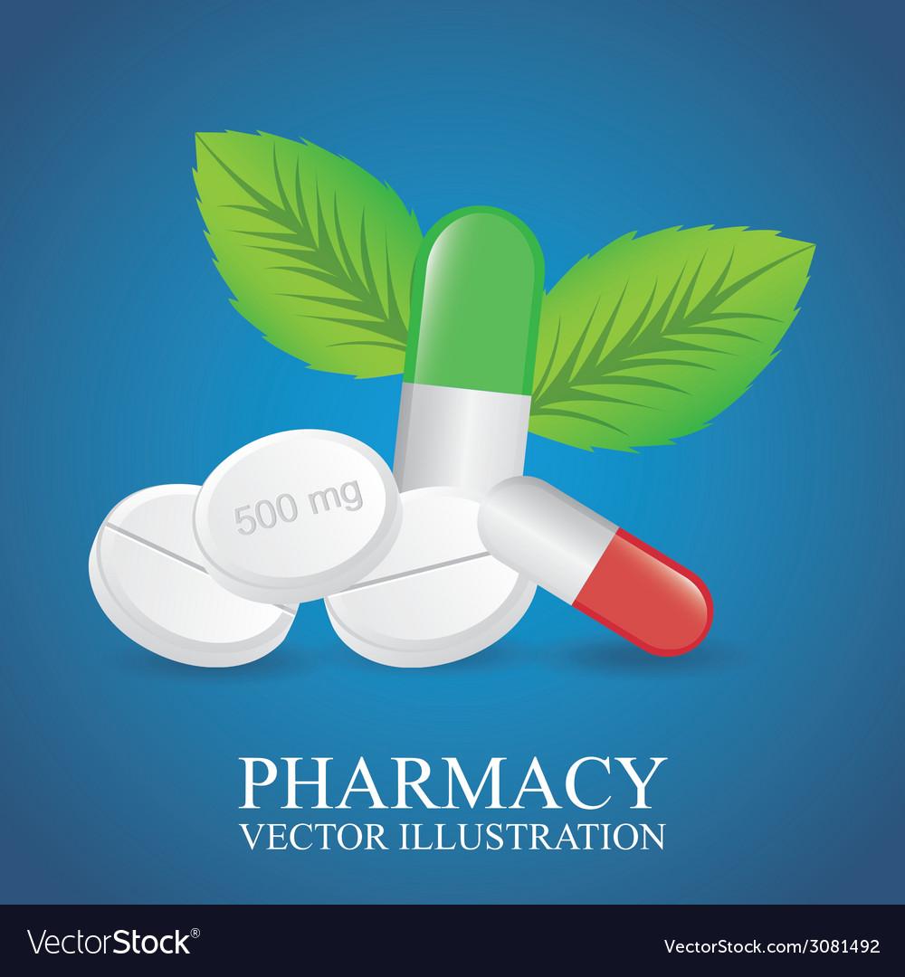 green pharmacy design royalty free vector image