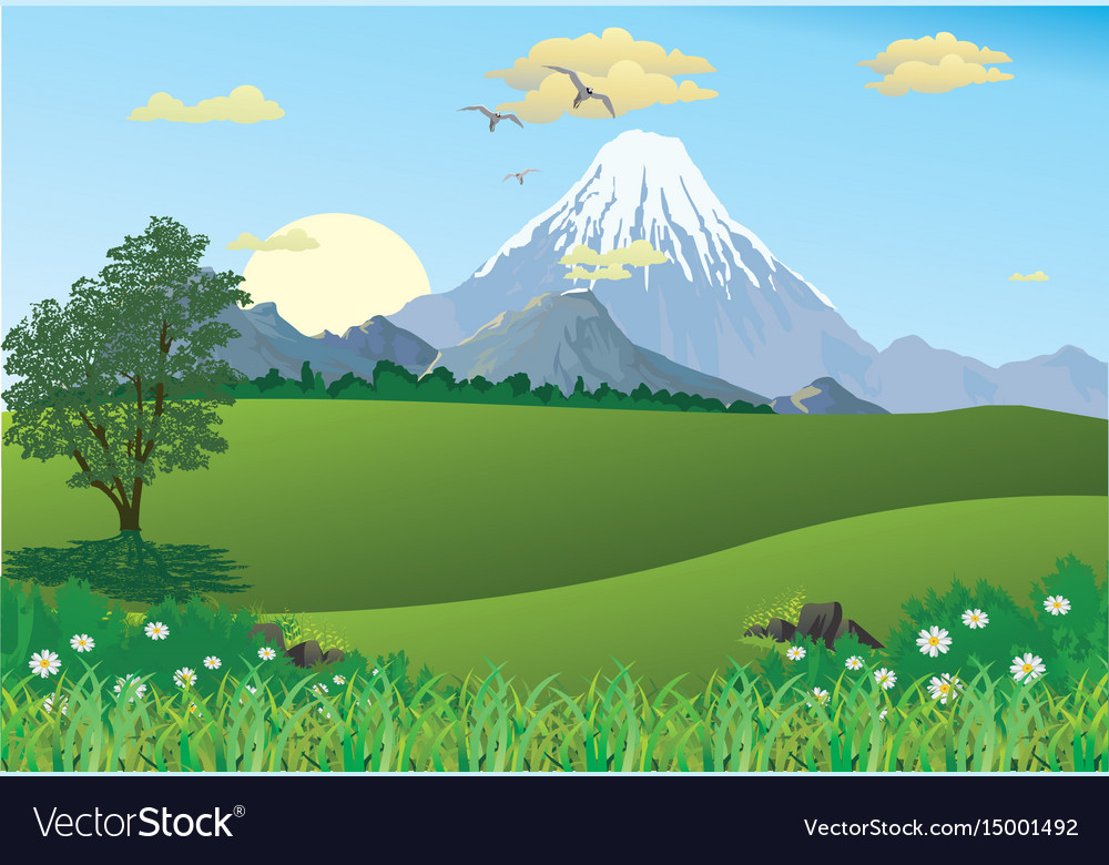 Landscape - mountain range on the horizon