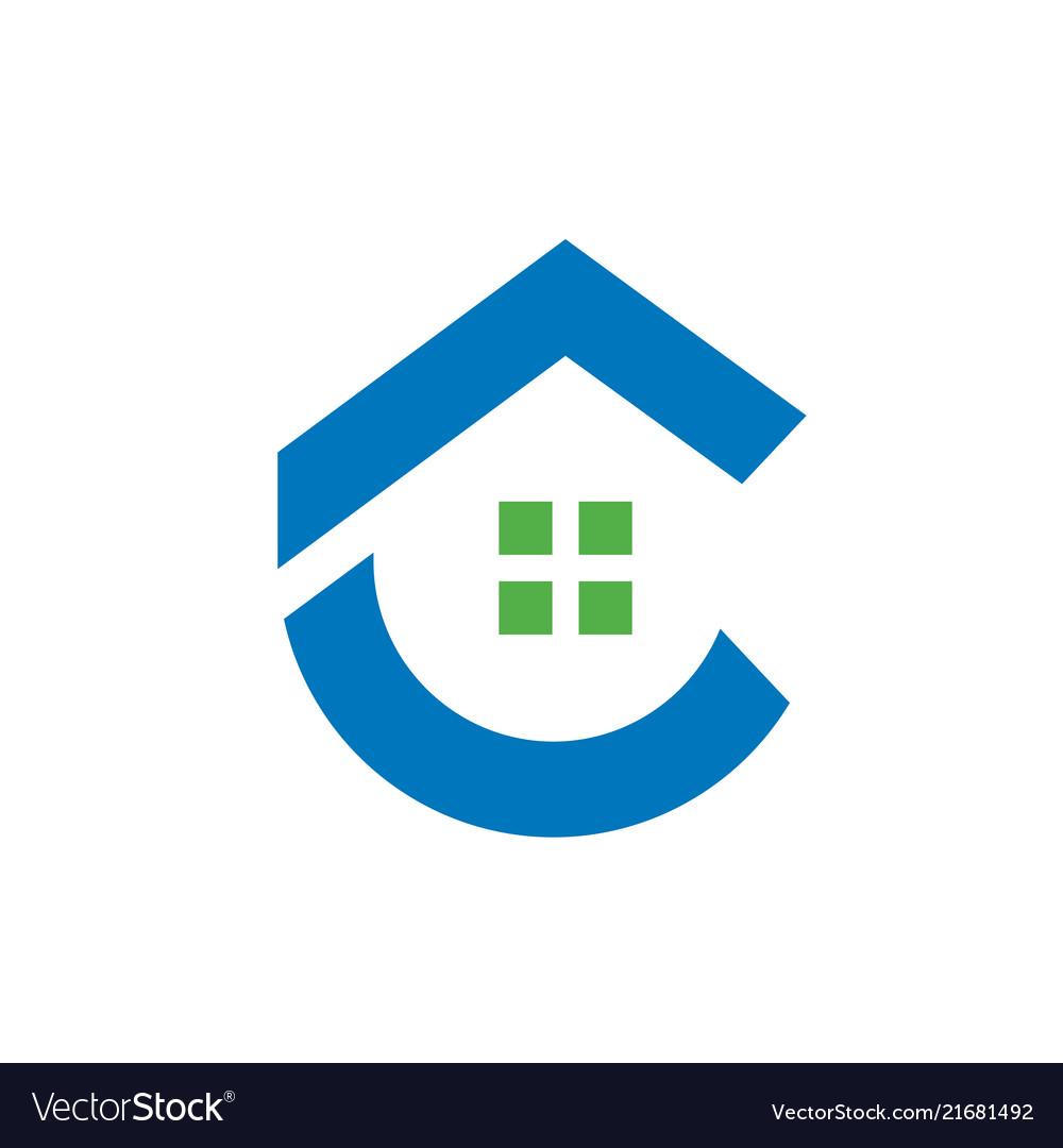 Letter c home logo