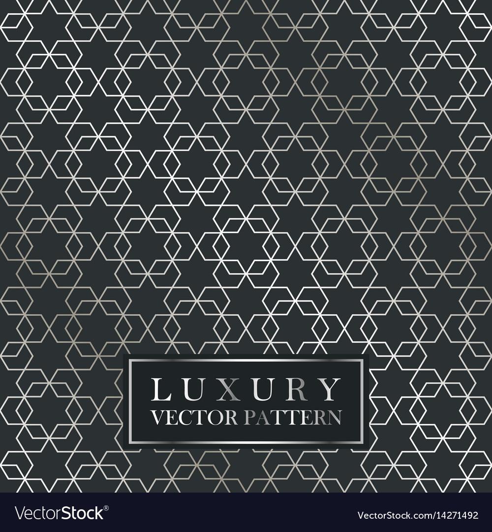 Luxury seamless ornate pattern - grid gradient