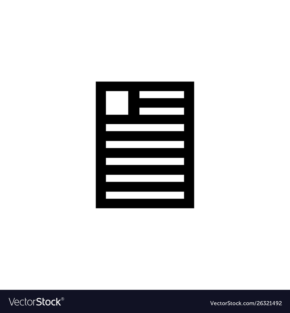 Resume file personal document flat icon