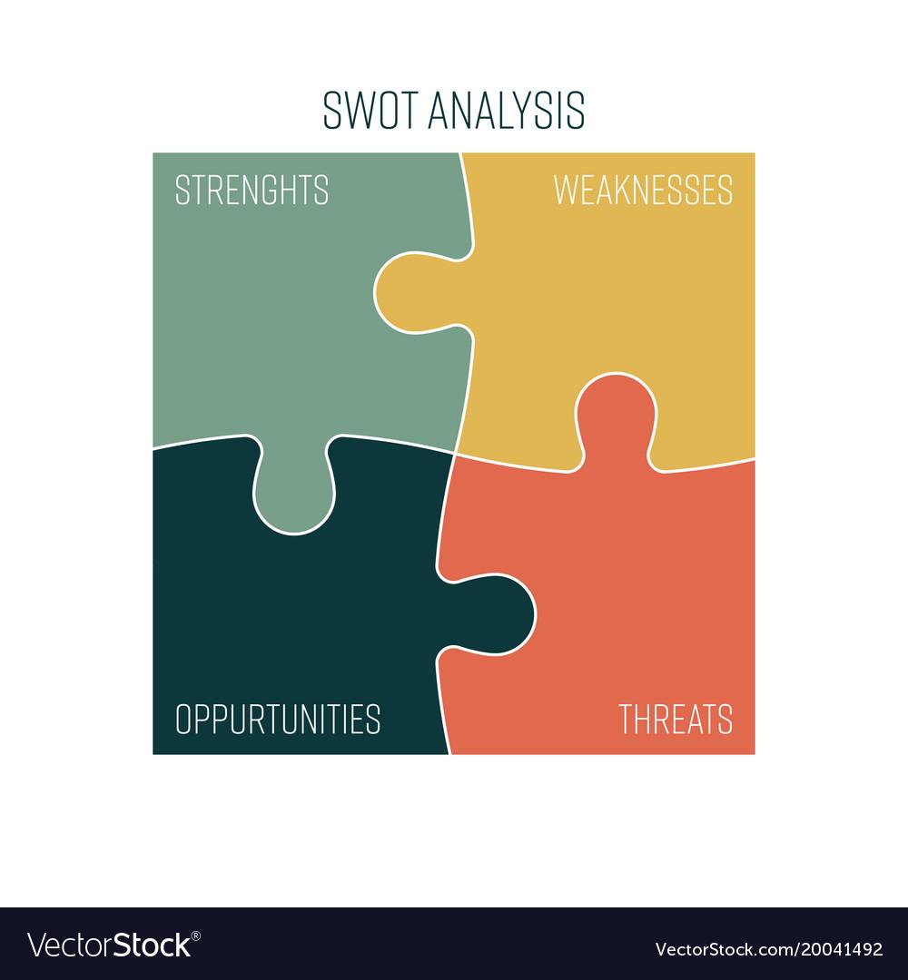 Swot business infographic diagram or swot matrix vector image ccuart Choice Image