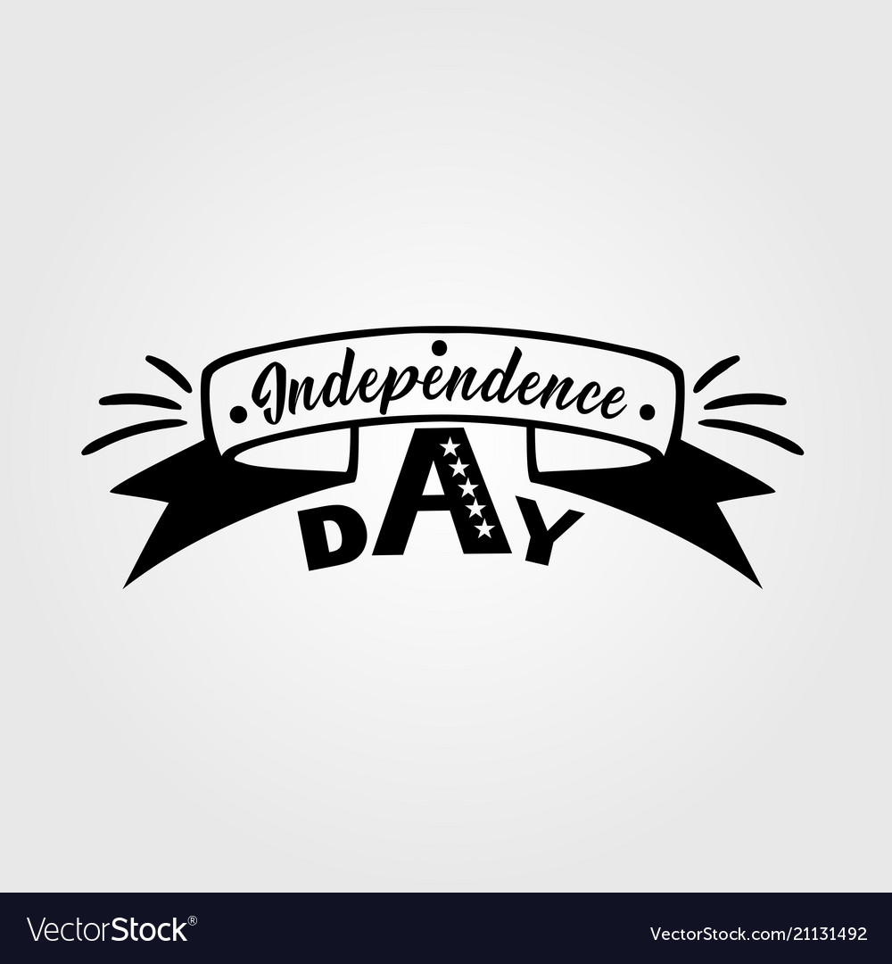 United stated independence day lettering fourth