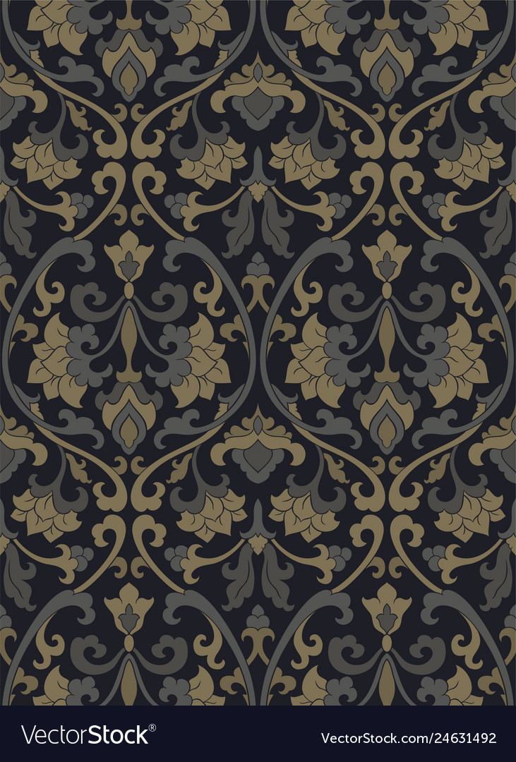 Victorian Floral Pattern Royalty Free Vector Image