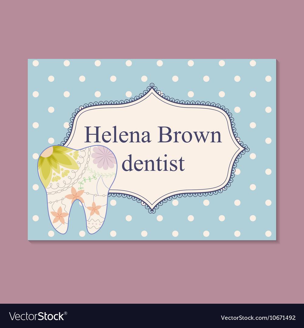 Vintage business card for dentist