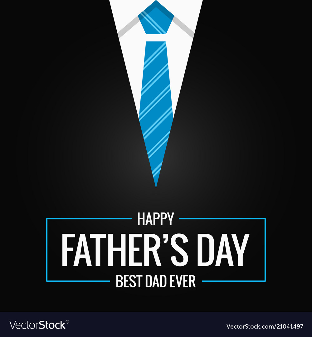 Fathers day card on black background