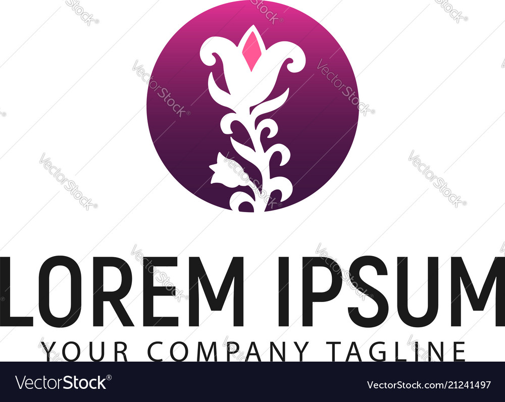 Flower logo design concept template