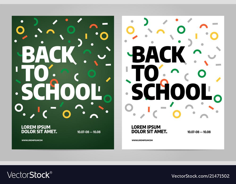 Back to school brochure design