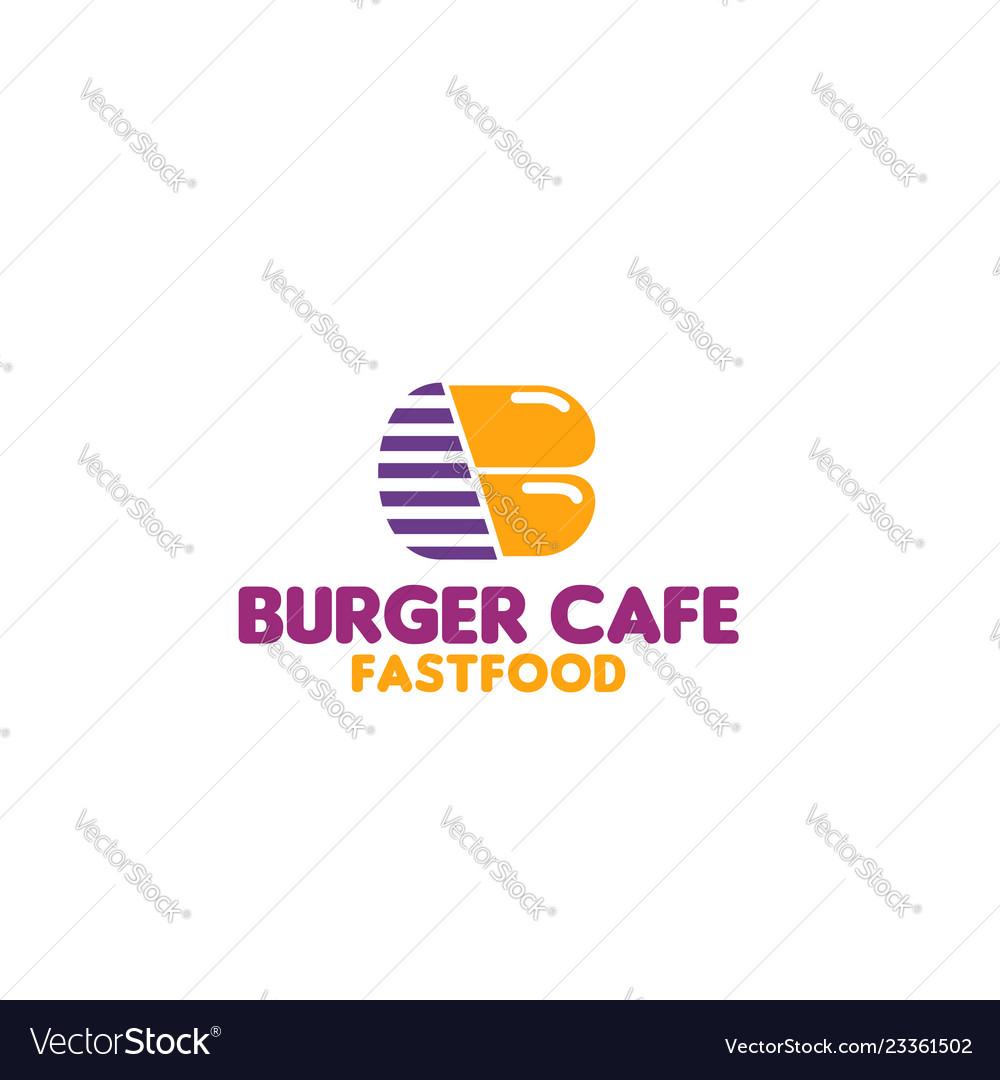 Badge for fast food cafe