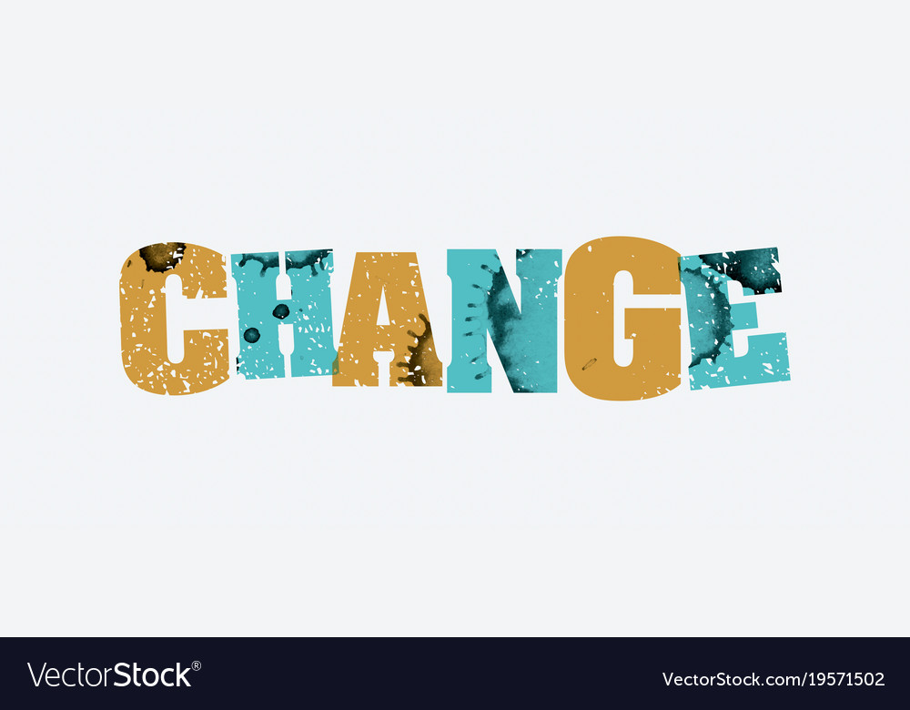 Change concept stamped word art
