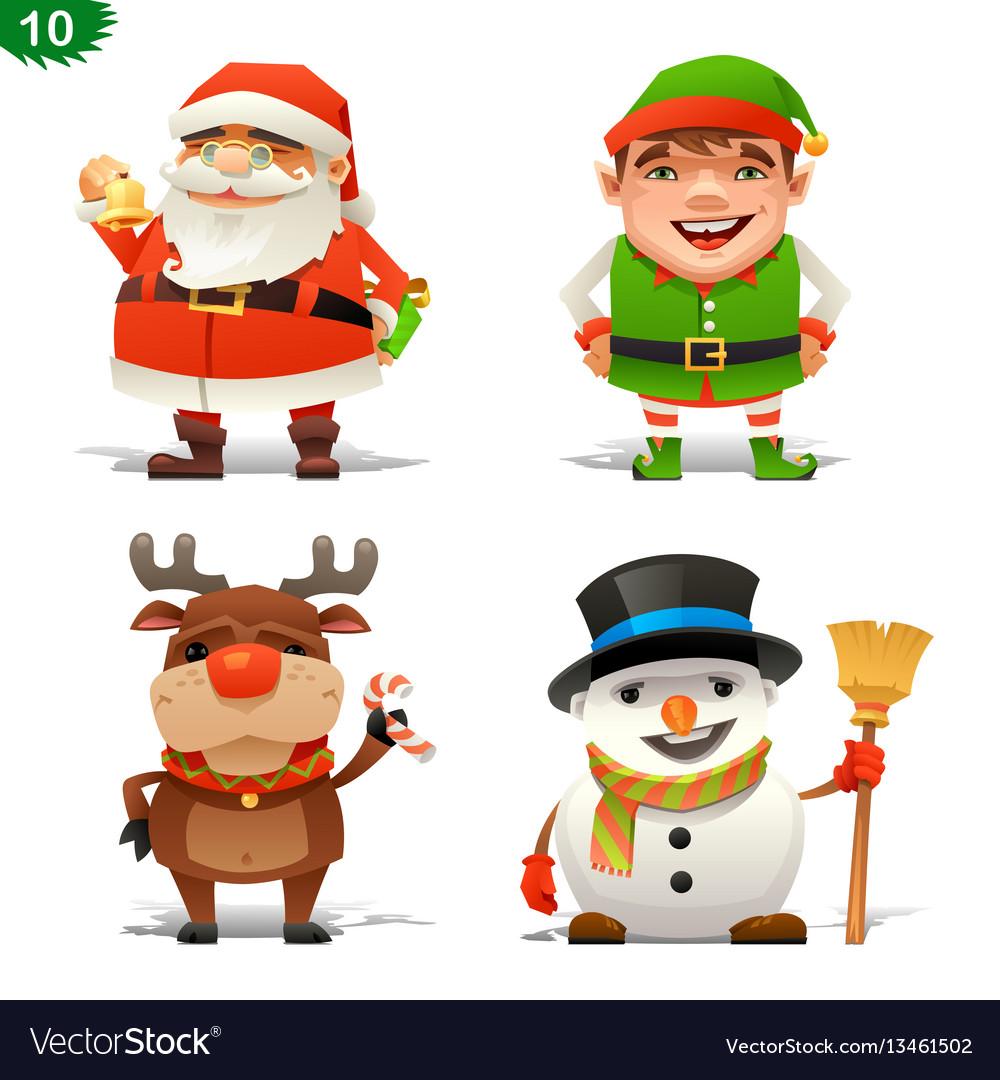 Christmas professions set