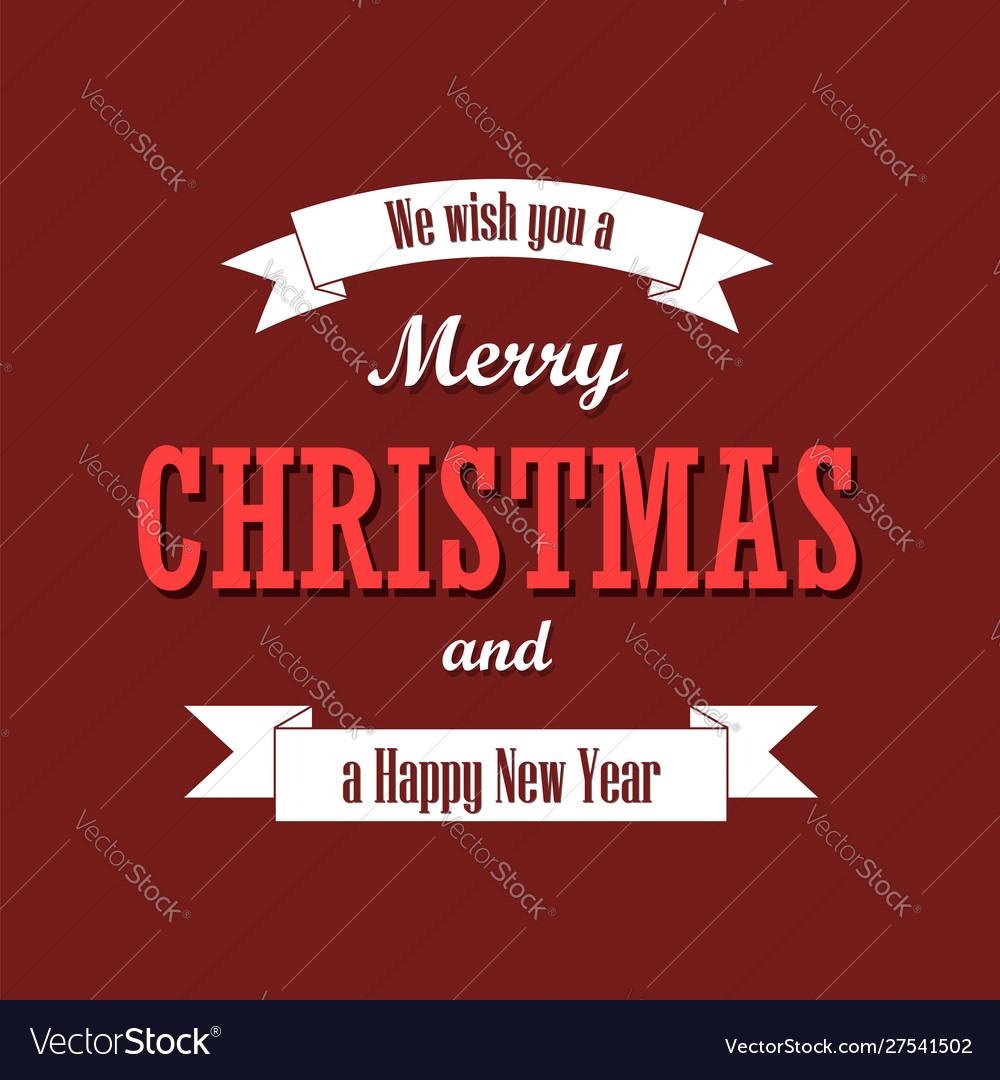 Christmas text white ribbon merry christmas and