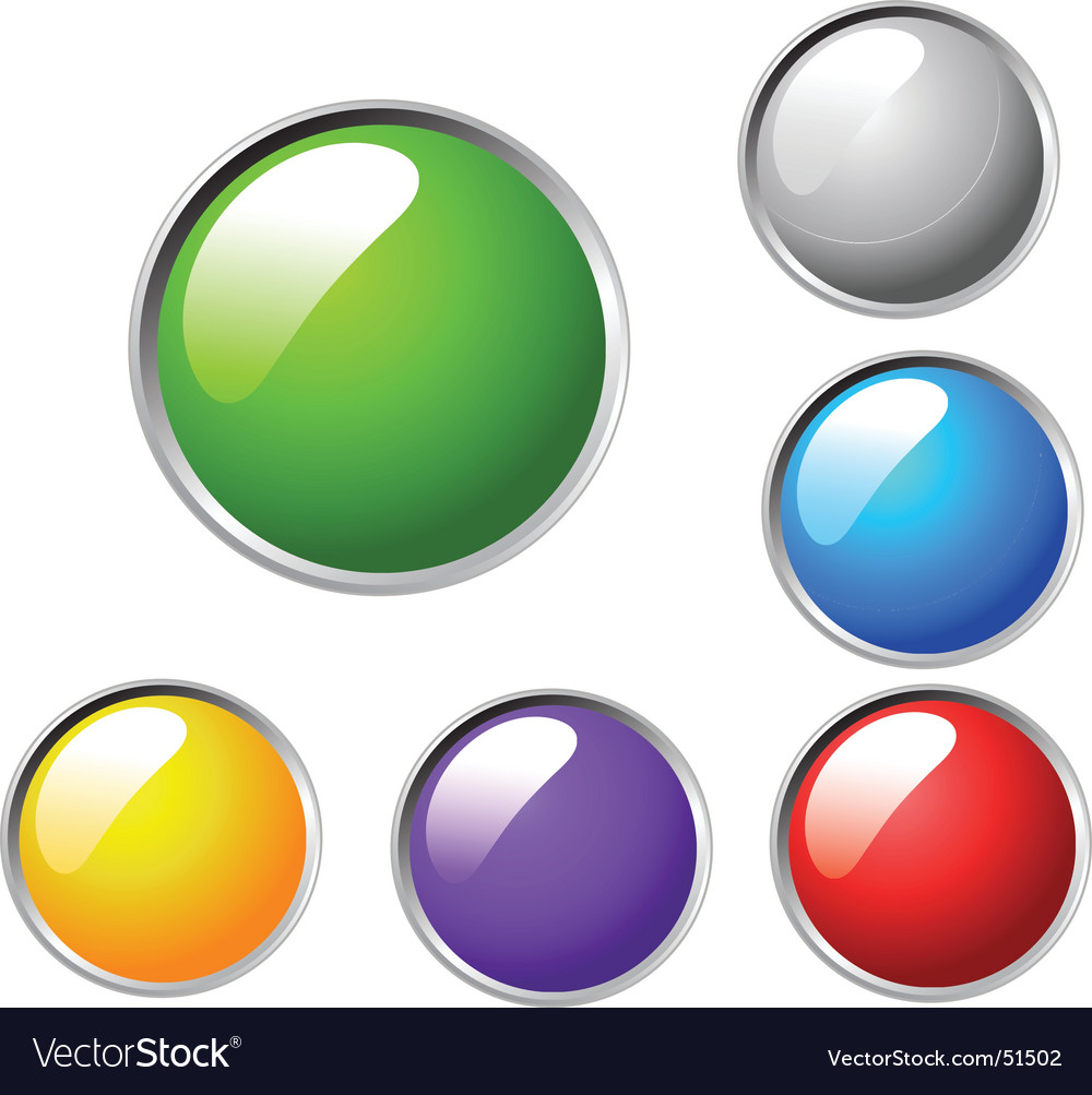 Colorful bulbs vector