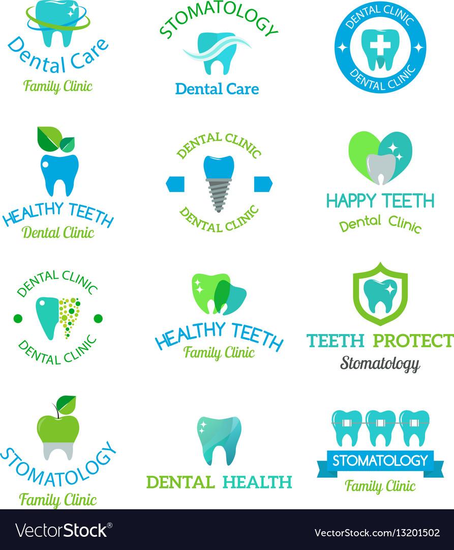 Dental stomatology clinic badge icon