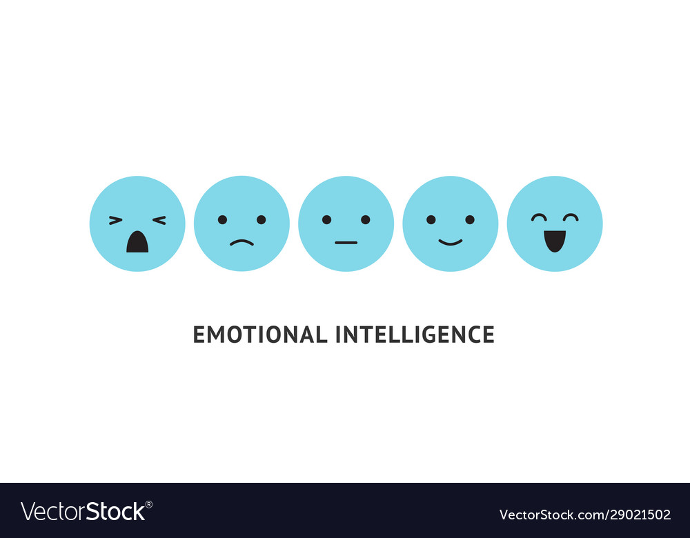 Emotion faces ranking scale blue smiles