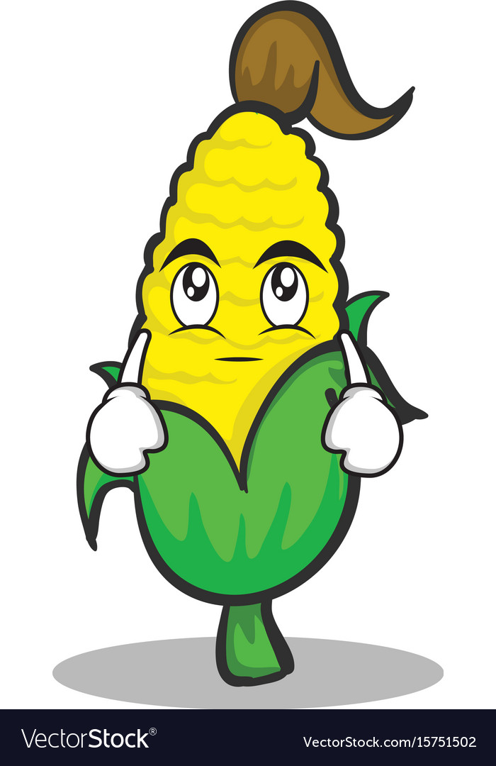 Eye roll sweet corn character cartoon