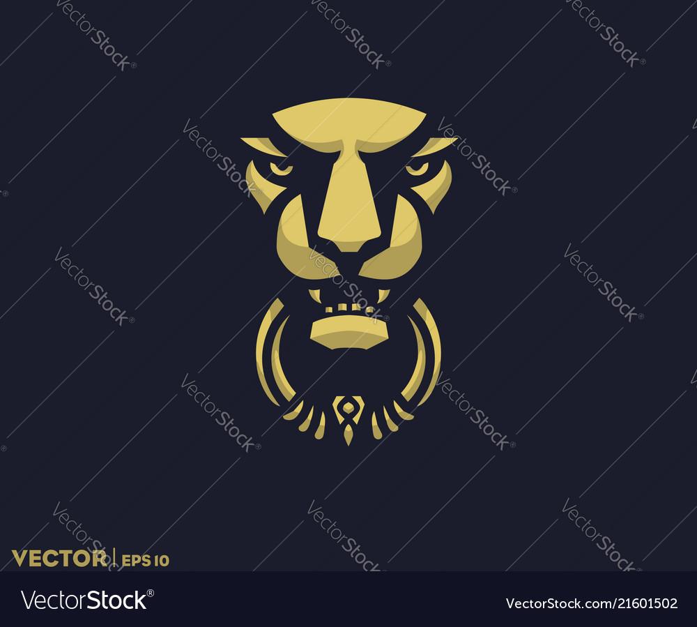 Lion Door Knocker Vector Image