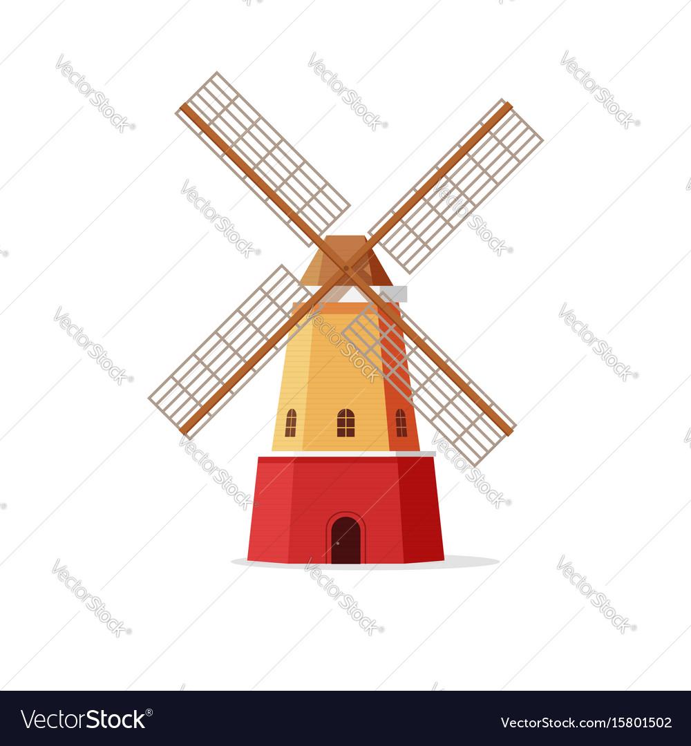 mill flat cartoon windmill royalty free vector image rh vectorstock com windmill vector download windmill vector png
