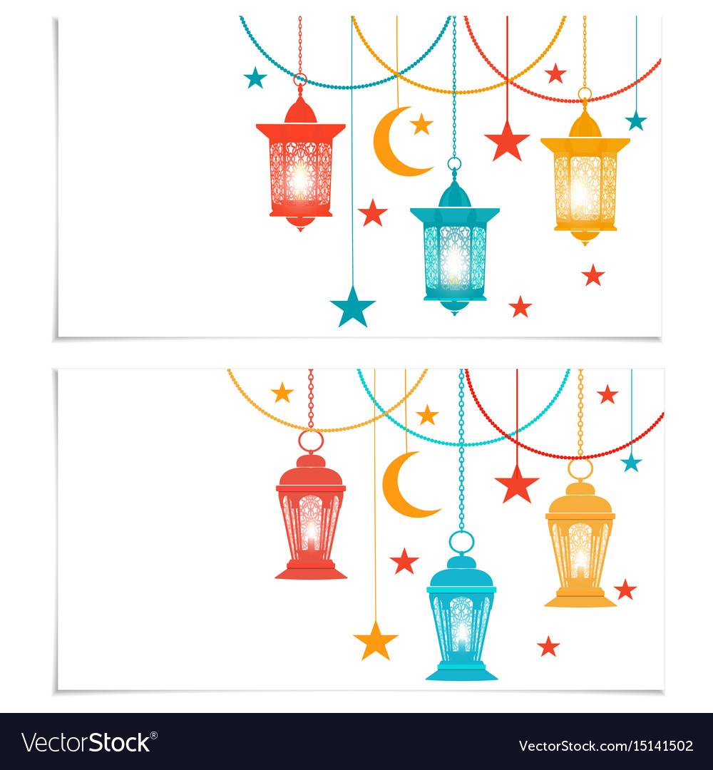 Ramadan kareem flyers business cards or royalty free vector ramadan kareem flyers business cards or vector image colourmoves