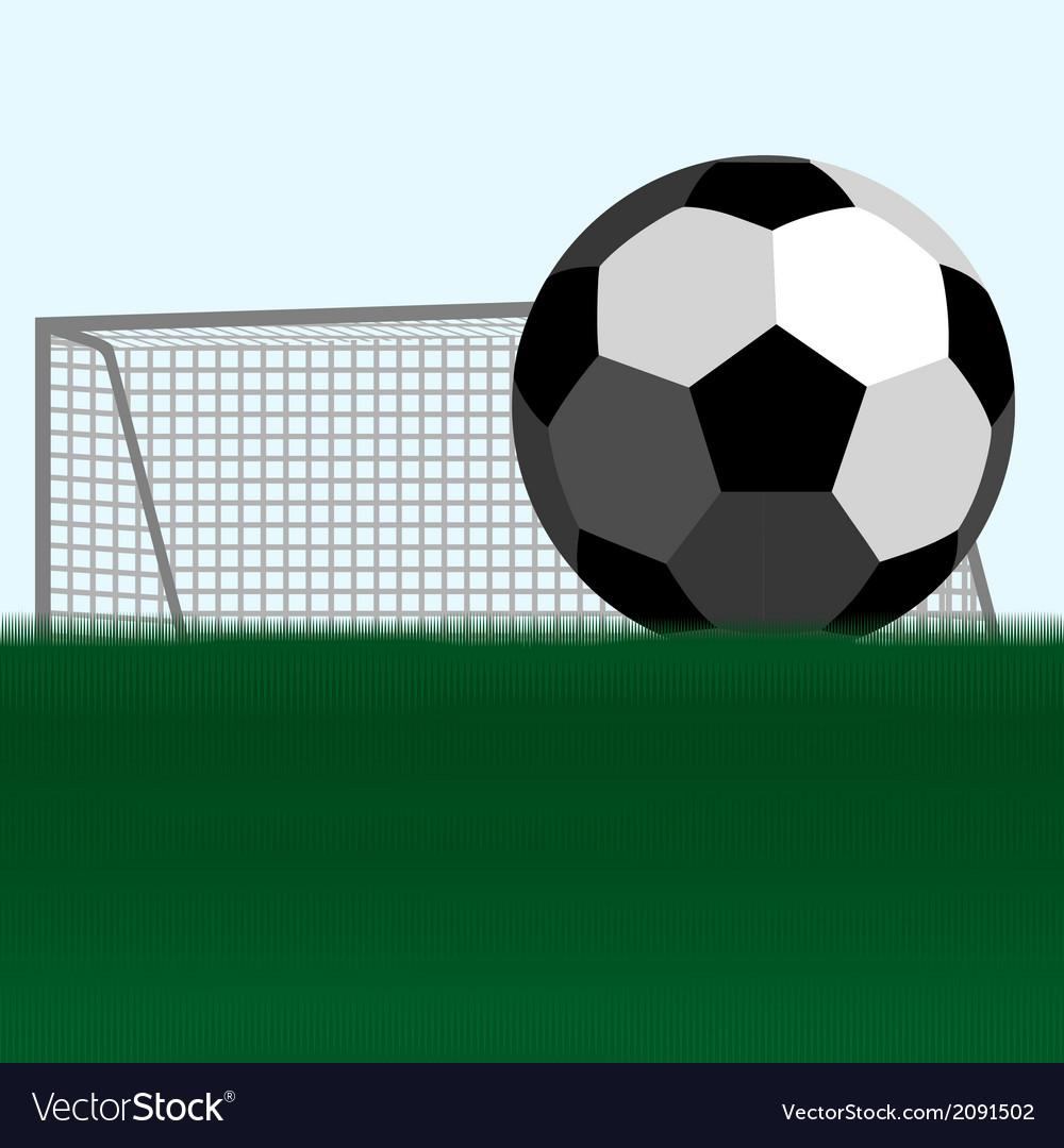 Soccer ball and football goals