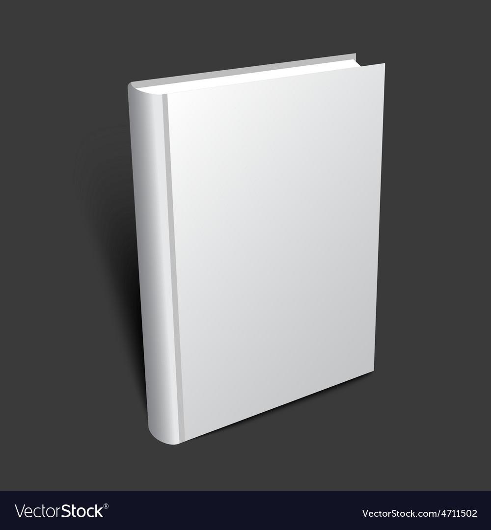 Standing 3d book vector image
