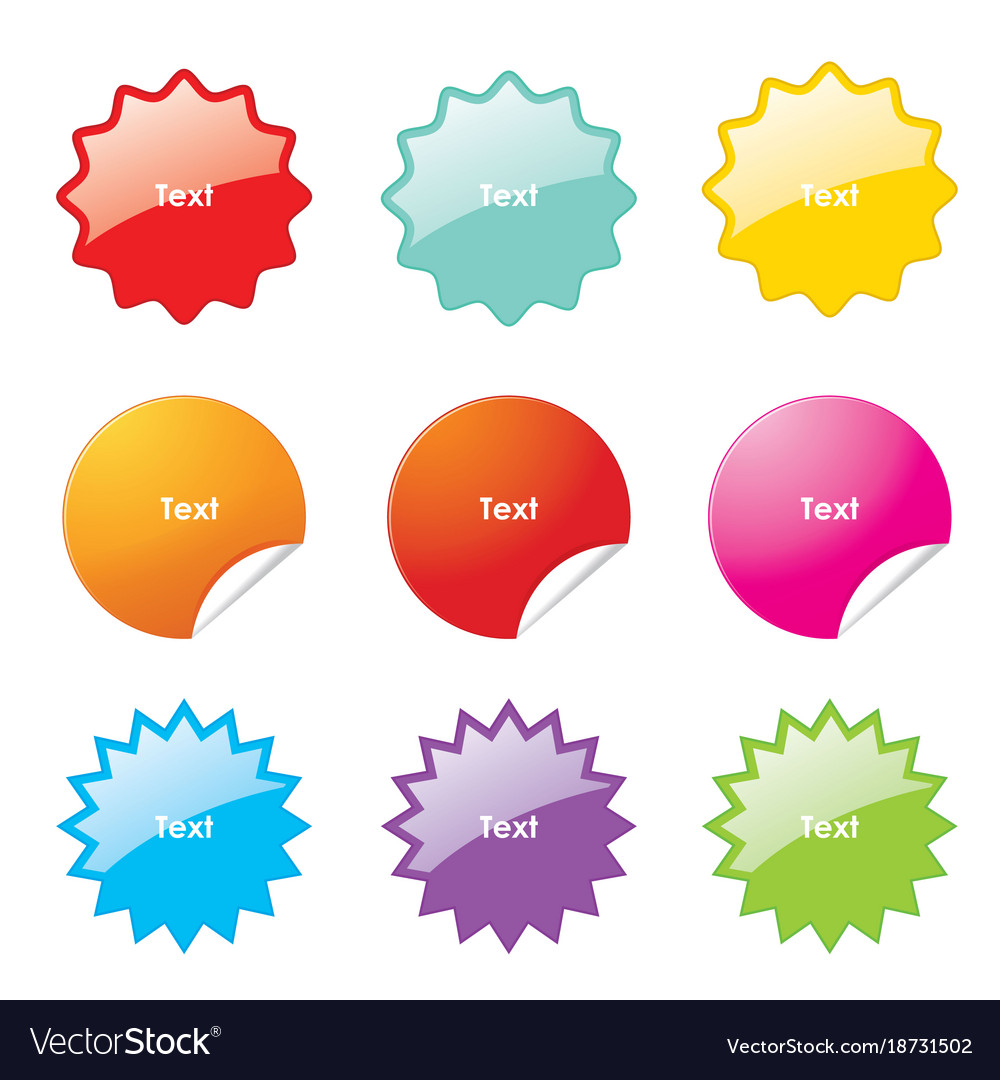 sticker rounded corner banner sale royalty free vector image