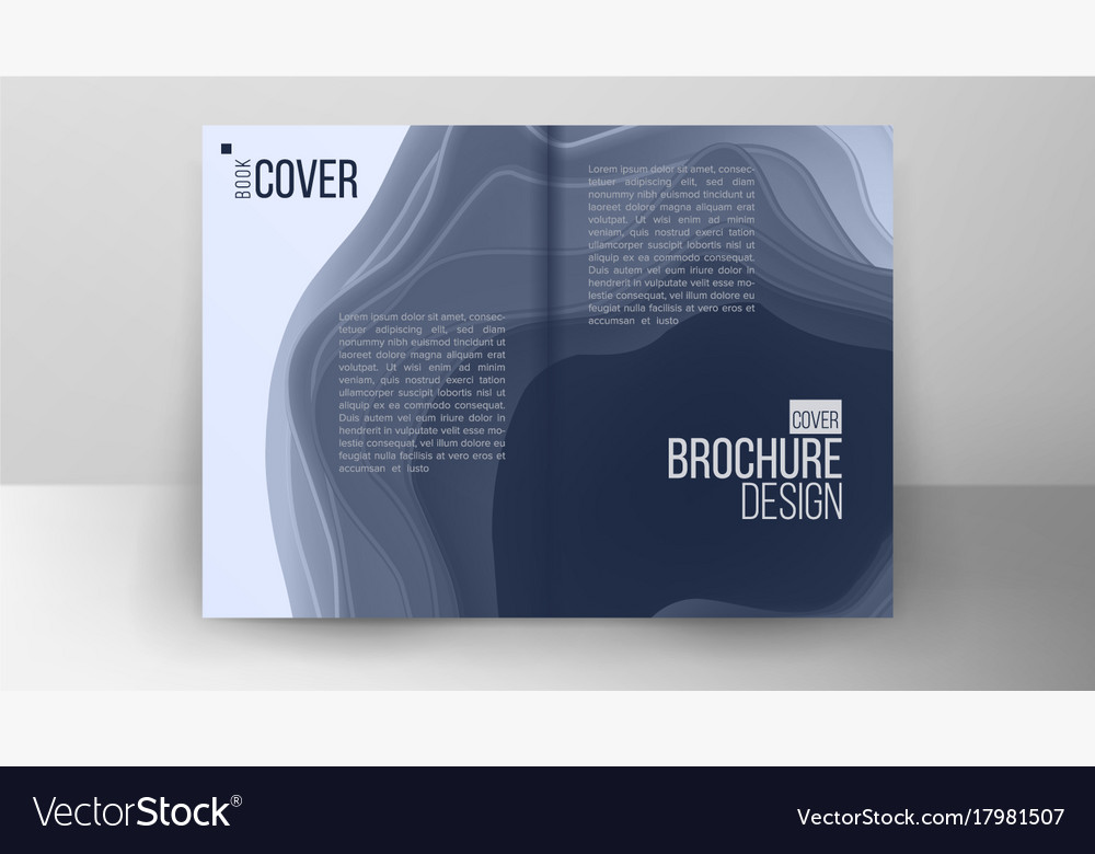 Flyer design abstract cut paperlayout vector image