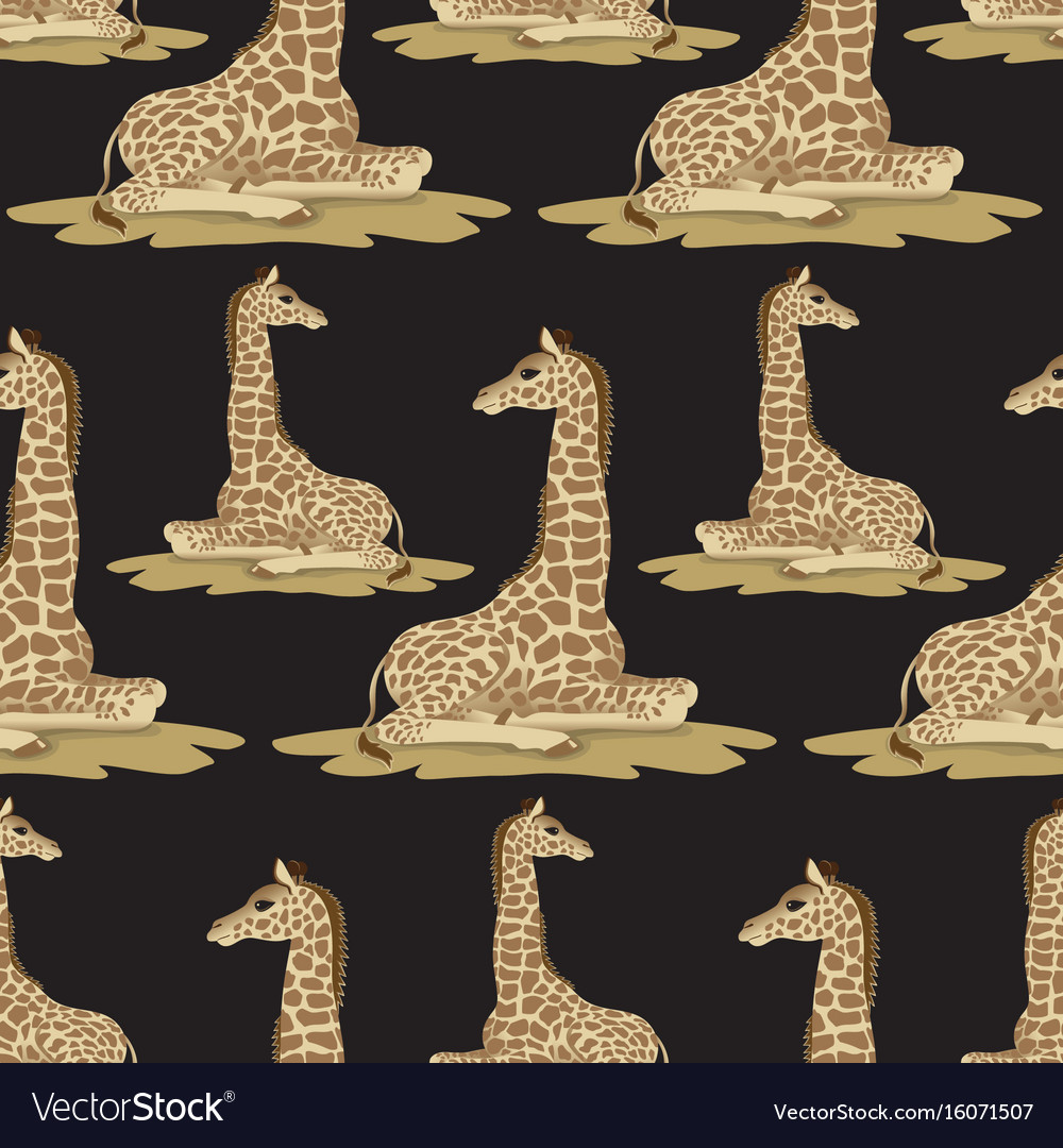Giraffe seamless pattern