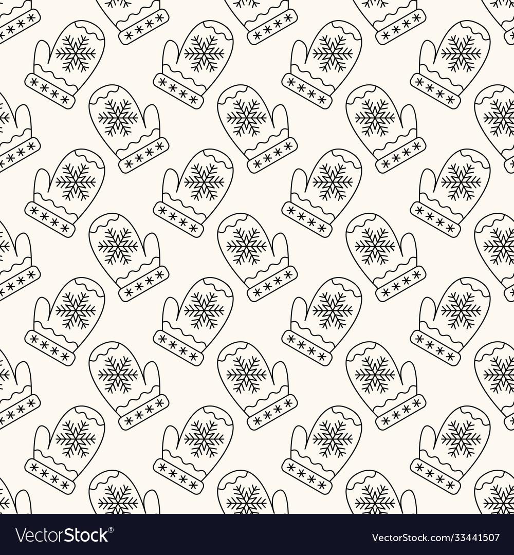 Seamless geometric christmas pattern