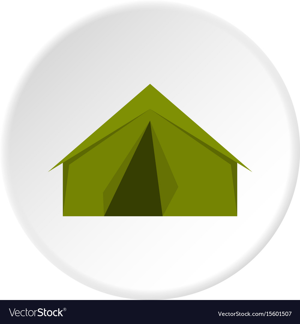 Tourist or a military tent icon circle
