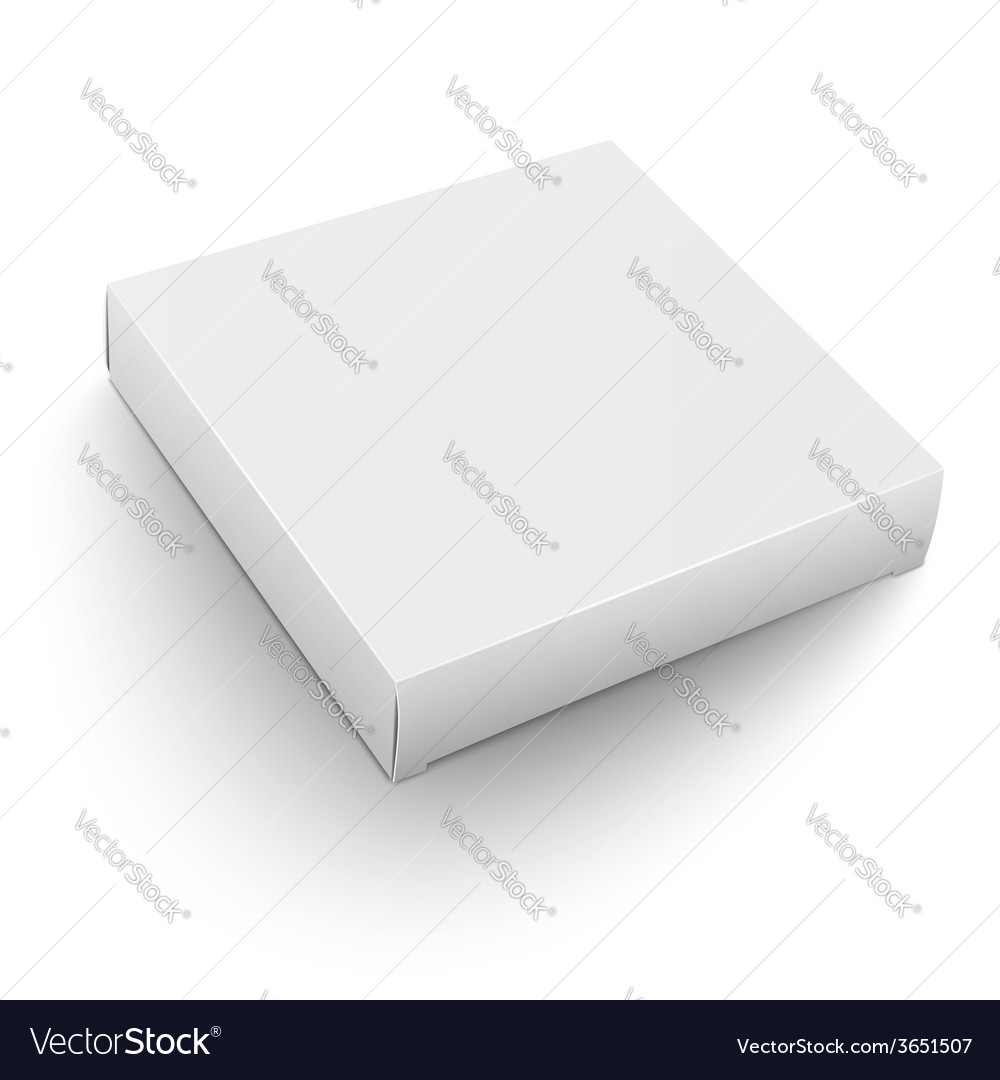 white square box template royalty free vector image