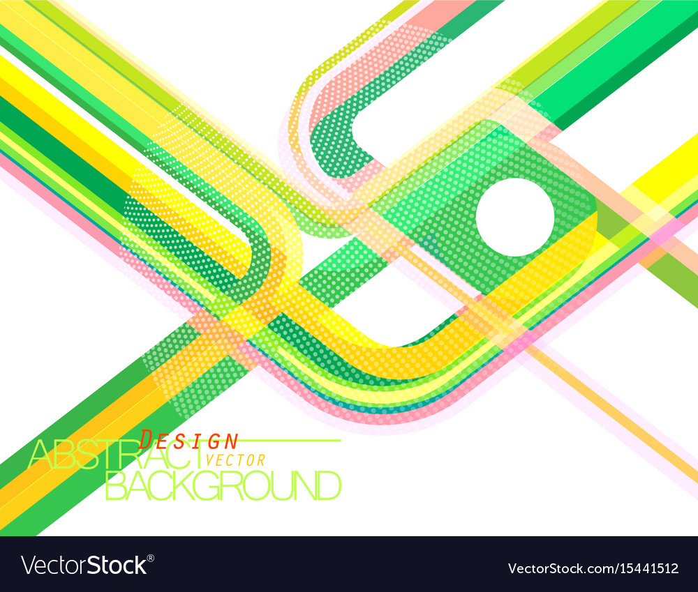 Abstract green concave scene